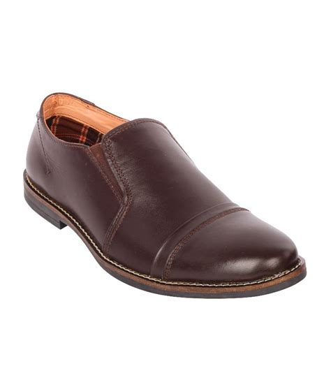 moladz brown leather office wear formal shoes price in