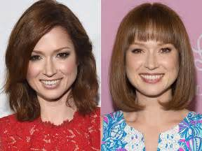 ellie kemper might need to steal her hair color lovely ellie kemper gets new bangs looks cuter than ever