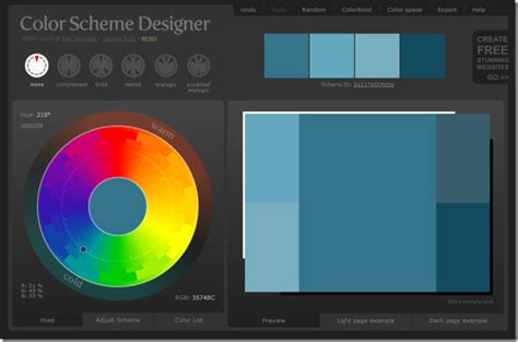 color schemes designer make complex color schemes export as photoshop html