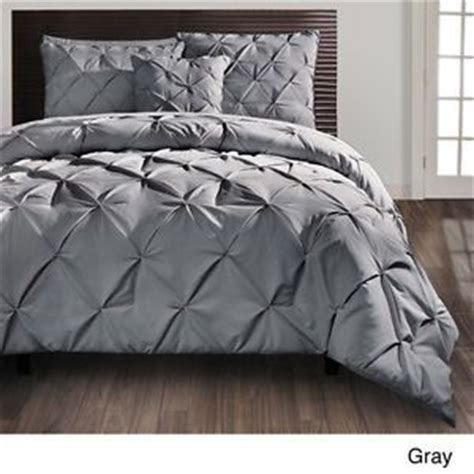 carmen gray pintuck modern king comforter set 4 pc bedding