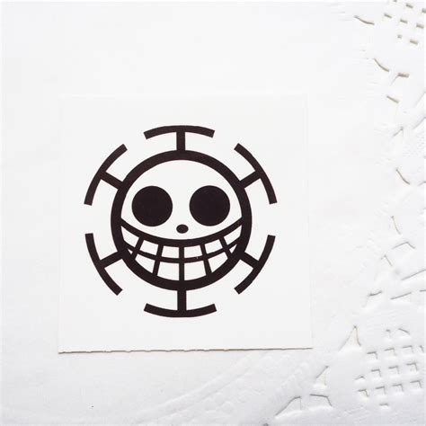 one piece fake tattoo trafalgar law sigil temporary tattoo sticker one piece