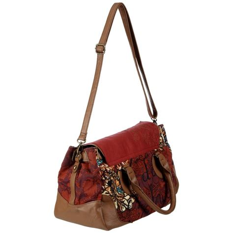 Per Unas Silk Floral Handbag by Borsa Con Manici Desigual Bols Bag Flowers Collezione