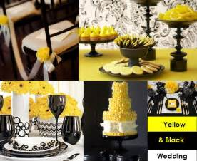 yellow decorations yellow and black for your wedding decoration weddings on