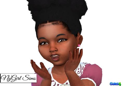 african american hair sims 4 cc nygirl sims 4 colored pearl toddler earrings