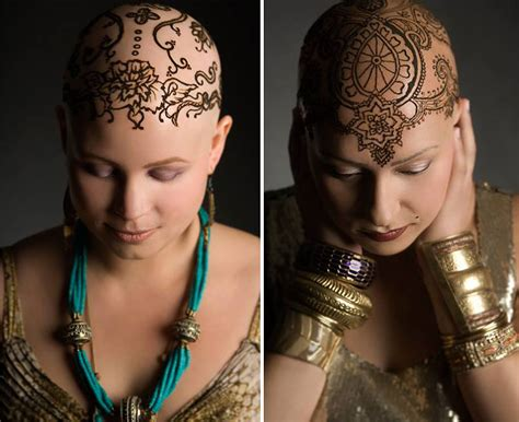 temporary hair tattoos beautiful henna crowns help cancer patients overcome their