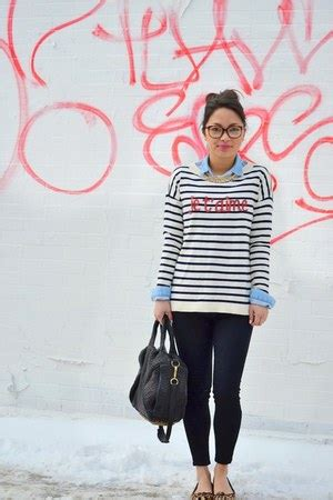 Sweater Jetaime Wedges blue striped sweater how to wear and where to buy