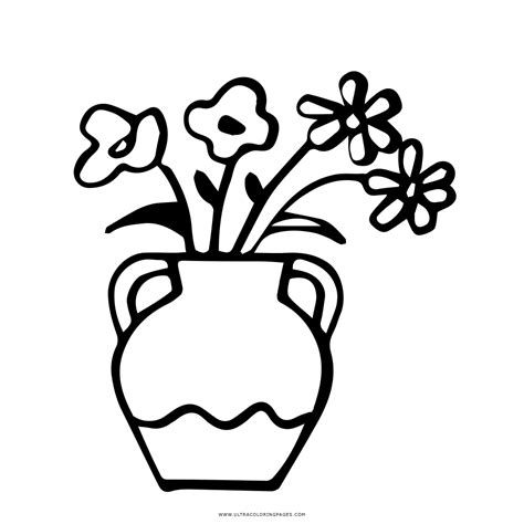 vaso con fiori da colorare vaso di fiori disegni da colorare ultra coloring pages con