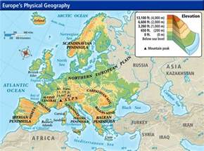 Physical Map Of Western Europe by Mr Morris World History 9 Website 2012 2013 Middle Ages