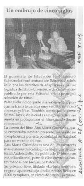 libro un embrujo de cinco siglos para leer presentaci 243 n1 embrujo de cinco siglos biblioteca nacional digital de chile