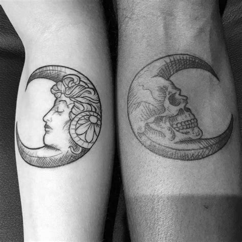 half tattoos for couples top 100 best matching tattoos connected design ideas
