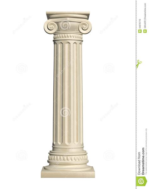 How To Read Architectural Plans by Stone Column Stock Photo Image 34979770