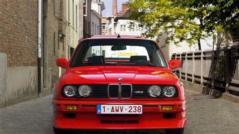 Bmw e30 m3 m power red street wallpaper   (84321)