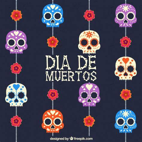 dise 241 o de calavera mexicana descargar vectores gratis fondos de pantalla fiesta dia de muertos fondo de d 237 a