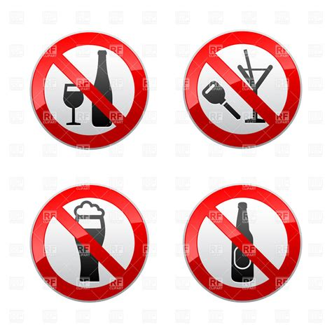 Dont Drink prohibited signs don t drink royalty free vector