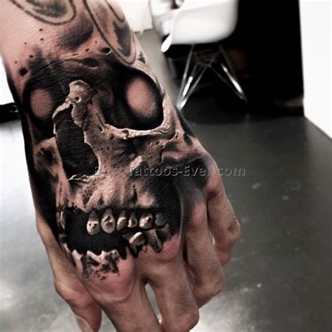 hand skull tattoo best tattoos ever