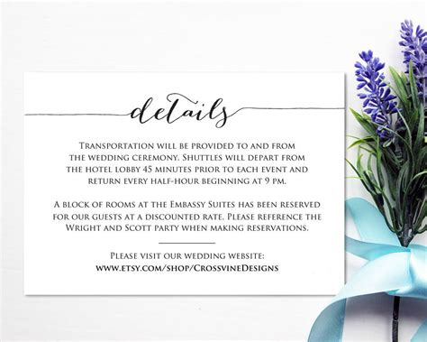 wedding invitation information card template details card template 183 wedding templates and printables