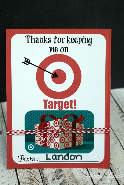Printable Gift Cards Target - thanks for keeping me on target free printable gift card holder mama cheaps