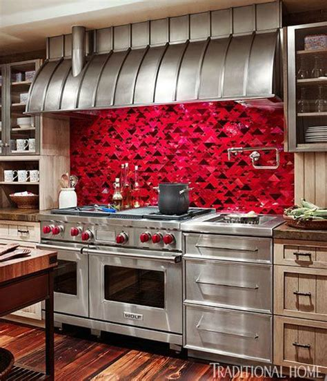 40 awesome kitchen backsplash ideas decoholic red kitchen backsplash