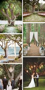outdoor wedding ceremony a tree