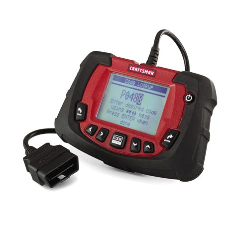 scanner tool craftsman obd2 scan tool with abs airbag codeconnect 174