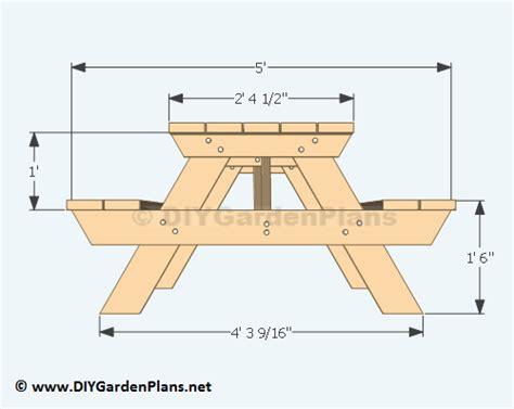 woodwork picnic table plans  plans