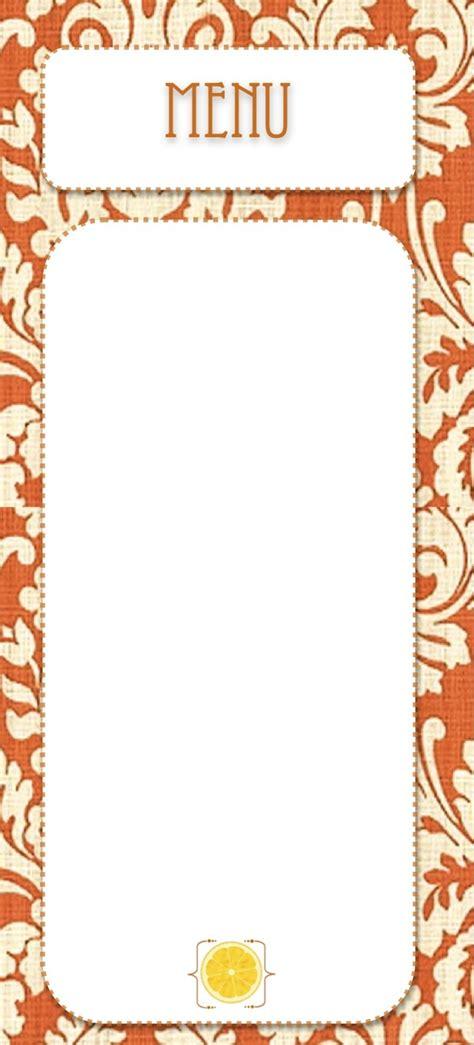 blank menu card templates free printables creative juice