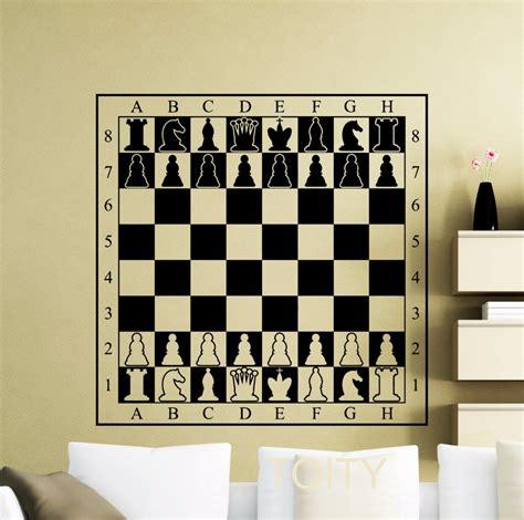 interior design stickers chessboard decal chessmen checkerboard wall vinyl table