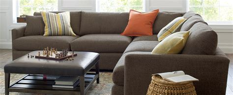 friendly upholstery lounge ii brown sectional couch with plush leather ottoman