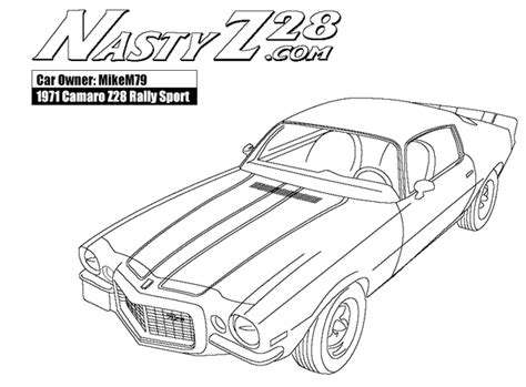 69 Coloring Page by Camaro Colouring Pages Pictures