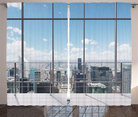 skyscraper curtains view from modern skyscraper city contemporary urban decor