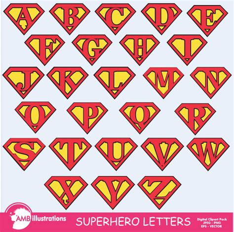Superman Alphabet Template by 9 Best Images Of Free Printable Letters