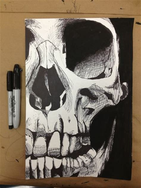 only best 25 ideas about skull drawings on pinterest