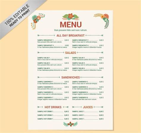menu checklist template 41 vintage menu designs free premium templates