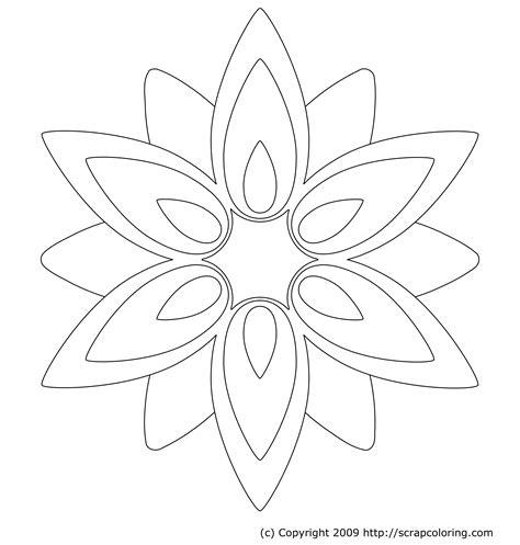 rose petal coloring page free flower petals coloring pages coloring home