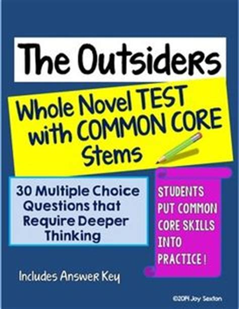 Outsiders Short Constructed Response Questions Common Core