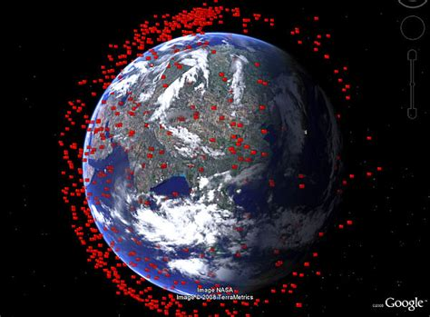 Google Images Earth From Space | space debris viewed in google earth google earth blog