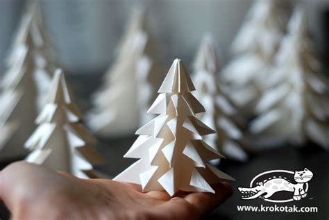 Origami Fir Tree - krokotak fold a fir tree