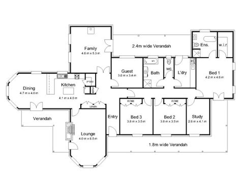australian home plans floor plans the carrington 171 australian house plans