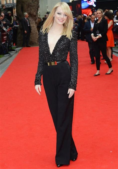 emma stone jumpsuit emma stone snap fashion