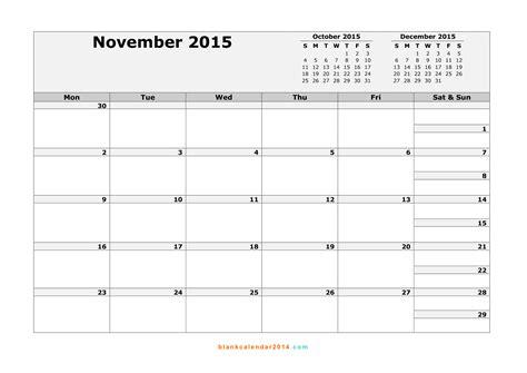 printable calendar november 2015 landscape 8 best images of november 2015 calendar printable