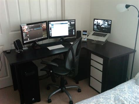ikea black computer decorating lovely ikea micke desk for study or workspace