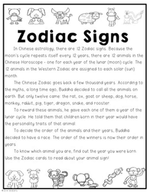 new year zodiac activities new year zodiac freebie reading passage