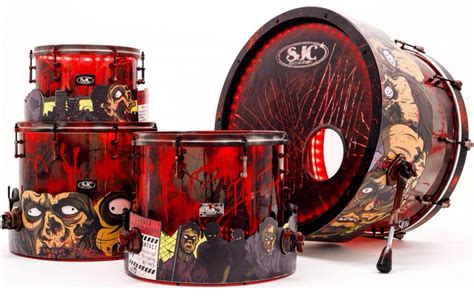 zombie drum tutorial sjc custom zombie theme kit modern drummer magazine