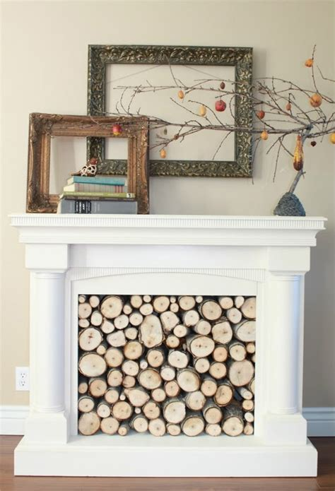 How To Stack Wood In Fireplace by How To Set Up Faux Fireplace At Home