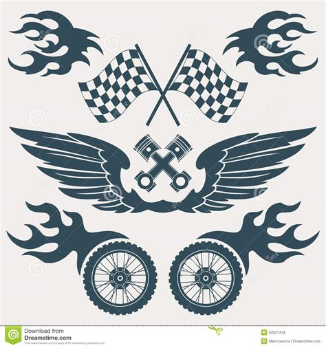 grunge design elements vector motorcycle design elements stock vector illustration of