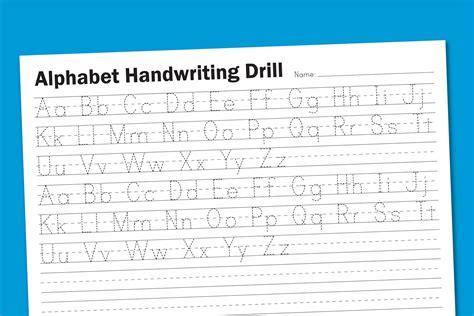 free printable preschool alphabet handwriting worksheets