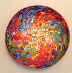 colorful decorative plates ceramic wall abstract decorative plate colourful wall