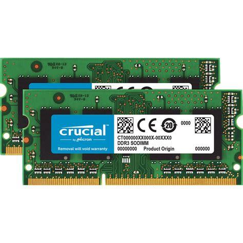 V Sodimm Ddr3 2 Gb Pc 10600 by Crucial 16 Gb 204 Pin Sodimm Ddr3 Pc3 10600 Memory