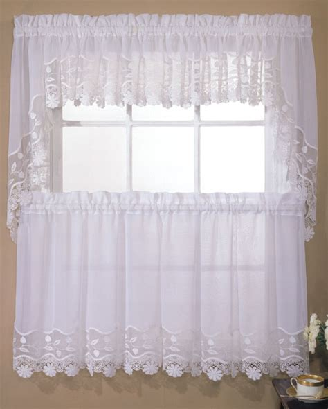 lorraine home fashions seville ecru curtains seville curtains style 263 embroidered organza macrame by lorraine home fashions white