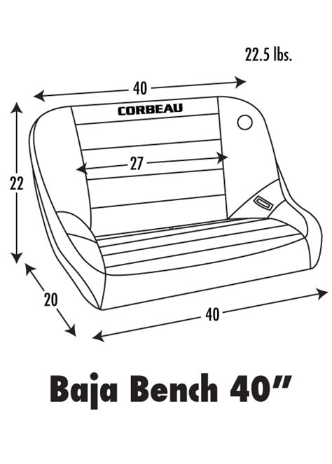 100 Standard Bench Seat Dimensions Corbeau Baja Bench Seat 40 Quot Black Vinyl Offroad Suspension Racing Forty Inch Tre Ebay